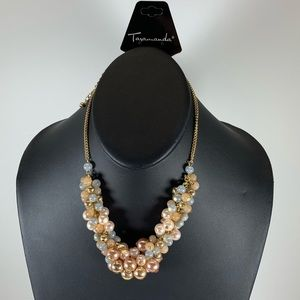 Jewelry - 5/$25 Gold Pearl Beaded Short Necklace